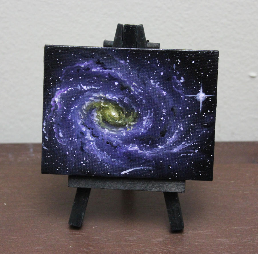 Mini Spiral Galaxy by crazycolleeny