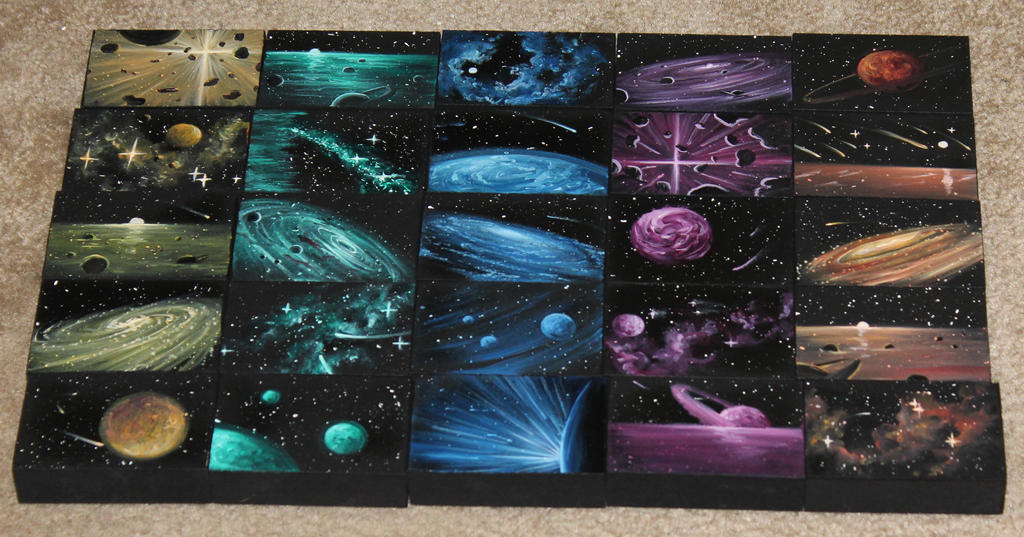 Mini Artomat Spacescapes 951-975 by crazycolleeny