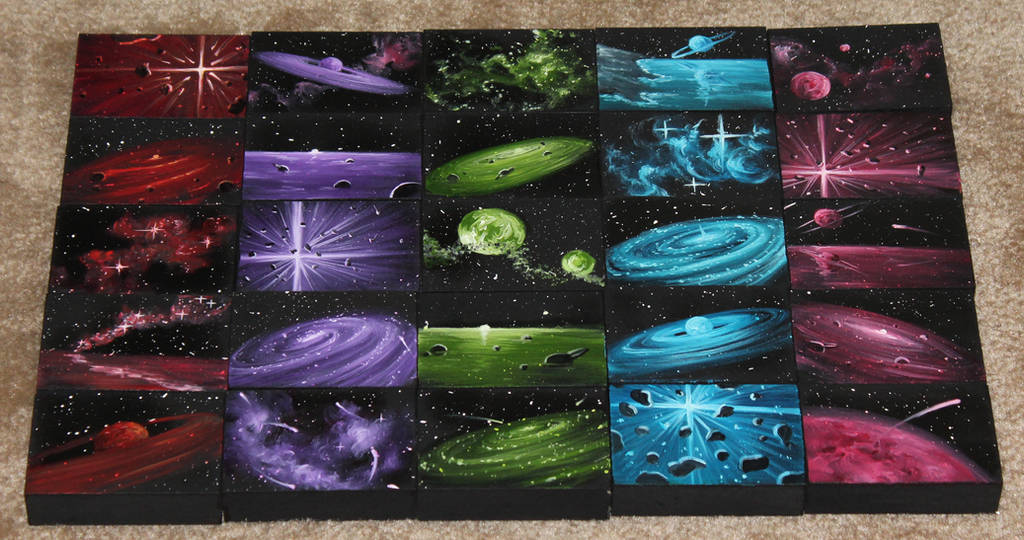 Mini Artomat Spacescapes 976-1000 by crazycolleeny