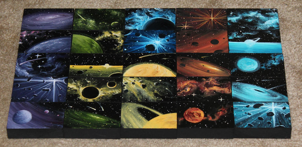 Mini Artomat Spacescapes 1076-1100 by crazycolleeny