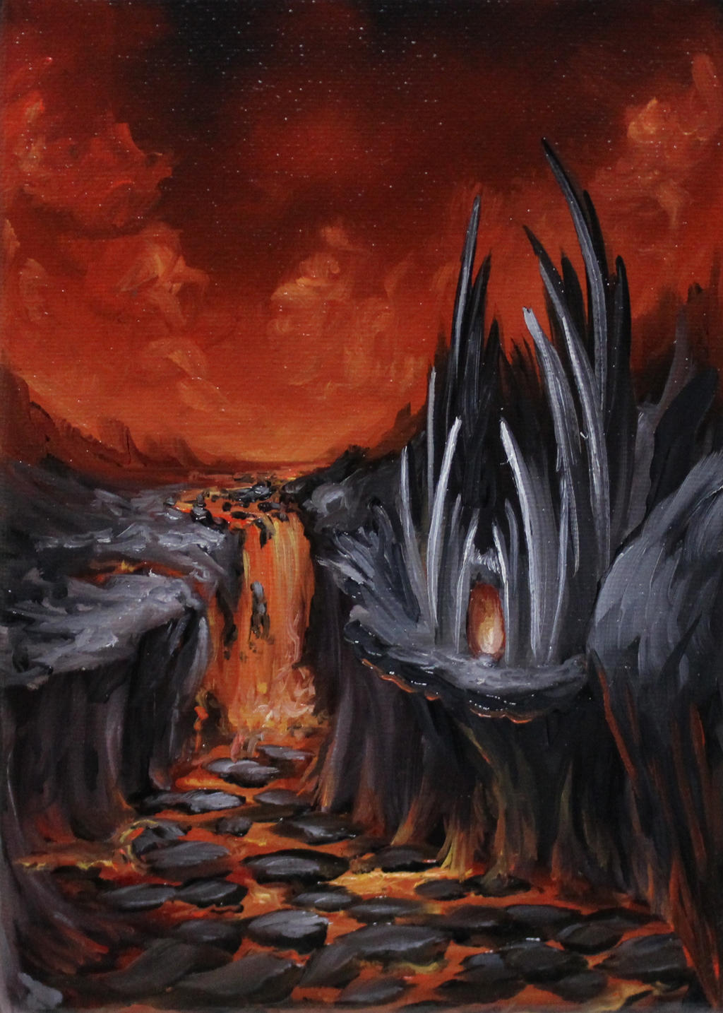 Evil Lava Castle by crazycolleeny