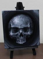 Silver Mini Skull by crazycolleeny