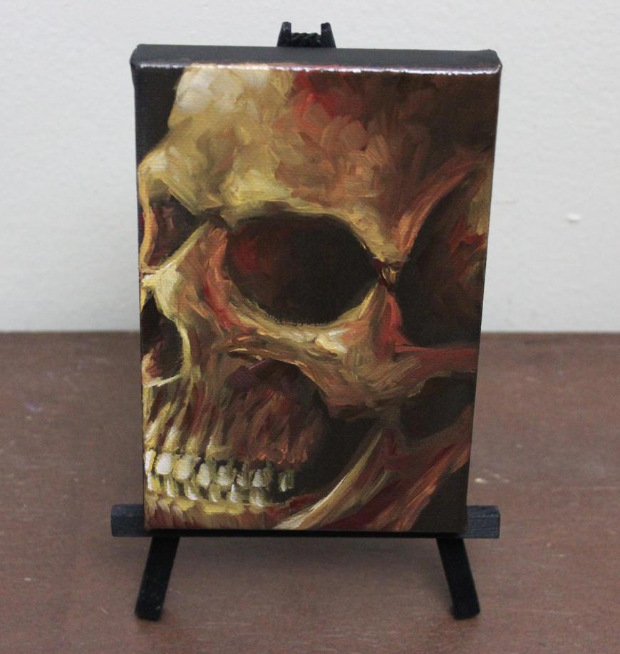 Bronze Skull by crazycolleeny