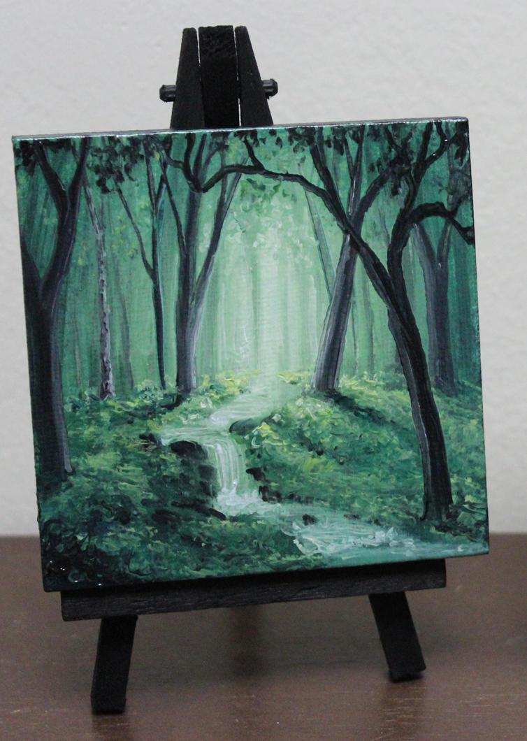 Mini Forest Stream by crazycolleeny