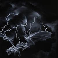Lightning Dragon by crazycolleeny