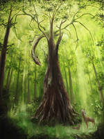 Forest Dragon by crazycolleeny