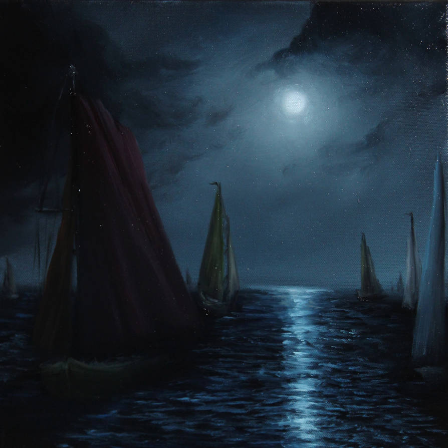 Night Sailing by crazycolleeny