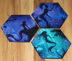 Mini Mermaid Paintings