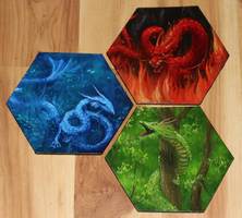 Mini Dragon Paintings