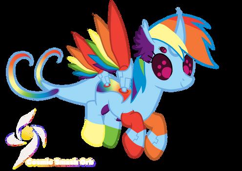 Rainbow Dash-Cybug Changelings