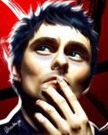 Matthew Bellamy Portrait by isabelleiboudesign
