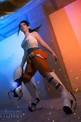 Portal 2 - Chell by Its-Raining-Neon