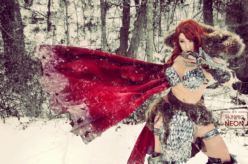 Red Sonja Cosplay by Its Raining Neon