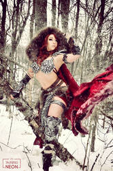 Winter Red Sonja cosplay by Its-Raining-Neon