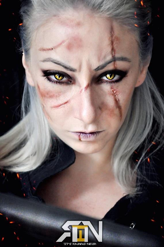 Genderbent Geralt The Witcher 3 by Its-Raining-Neon