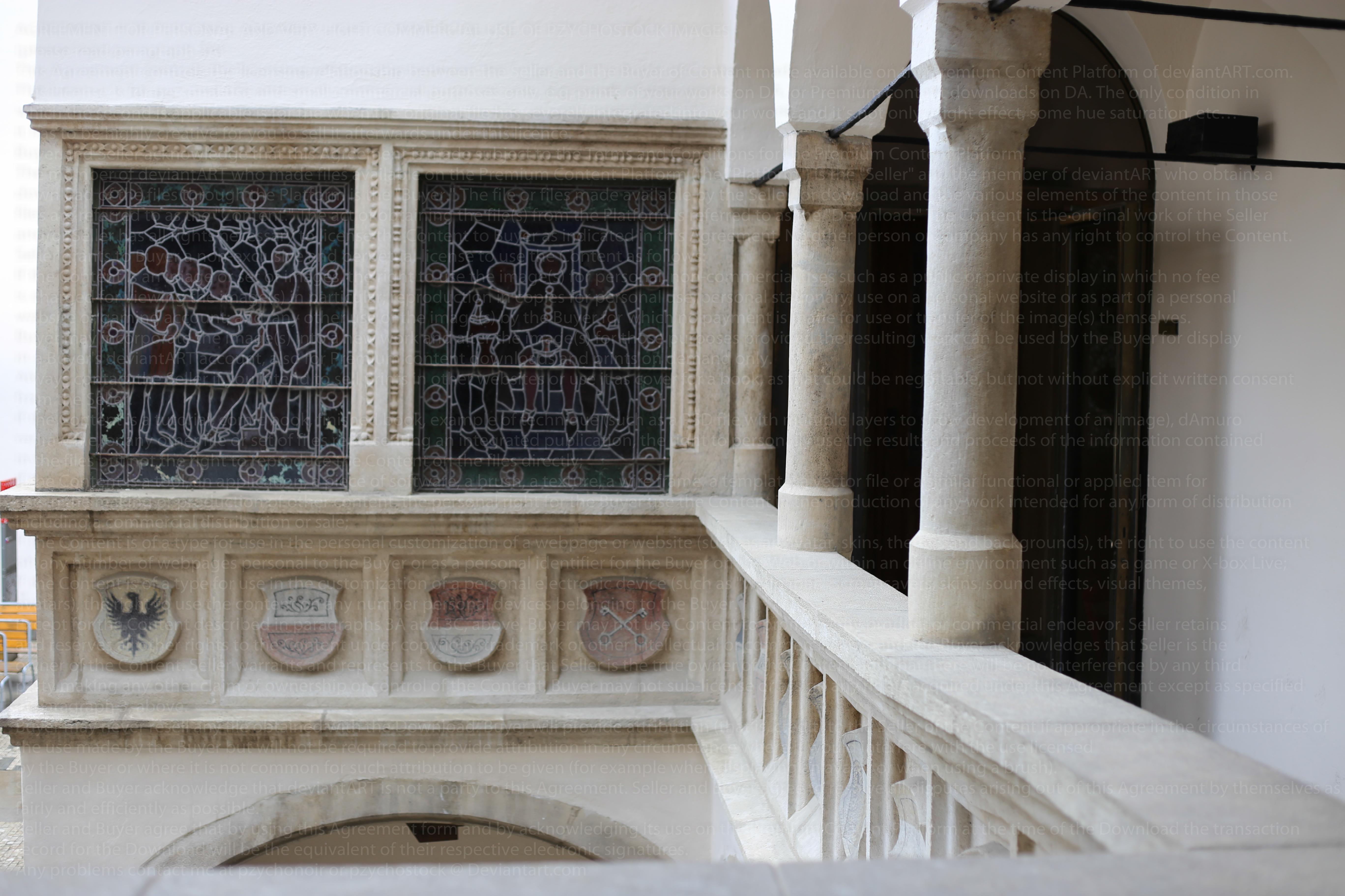 Medieval Balcony by PzychoStock