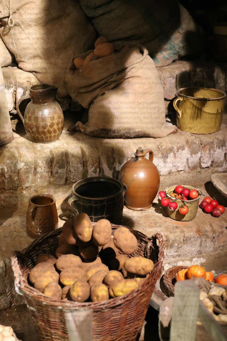 Medieval food storage by PzychoStock