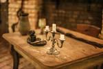 Medieval Alchemist's Desk by PzychoStock