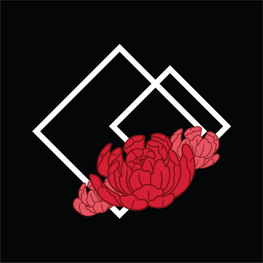 Red Peony Design by Katcuty