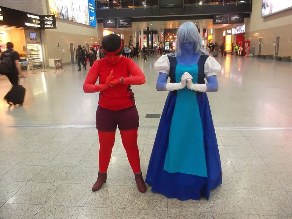 Steven Universe - Ruby and Sappire~ by Mew-Mew-Rocky