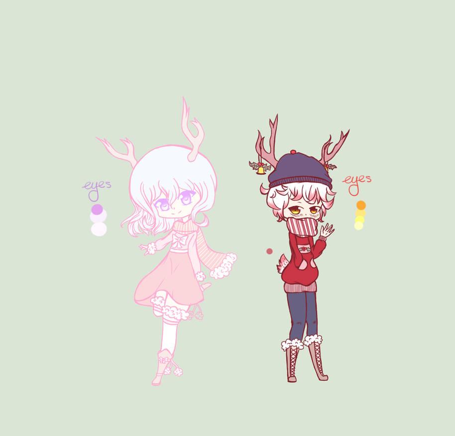 Reindeer Adopts CLOSED by Jade-Hearts-Art