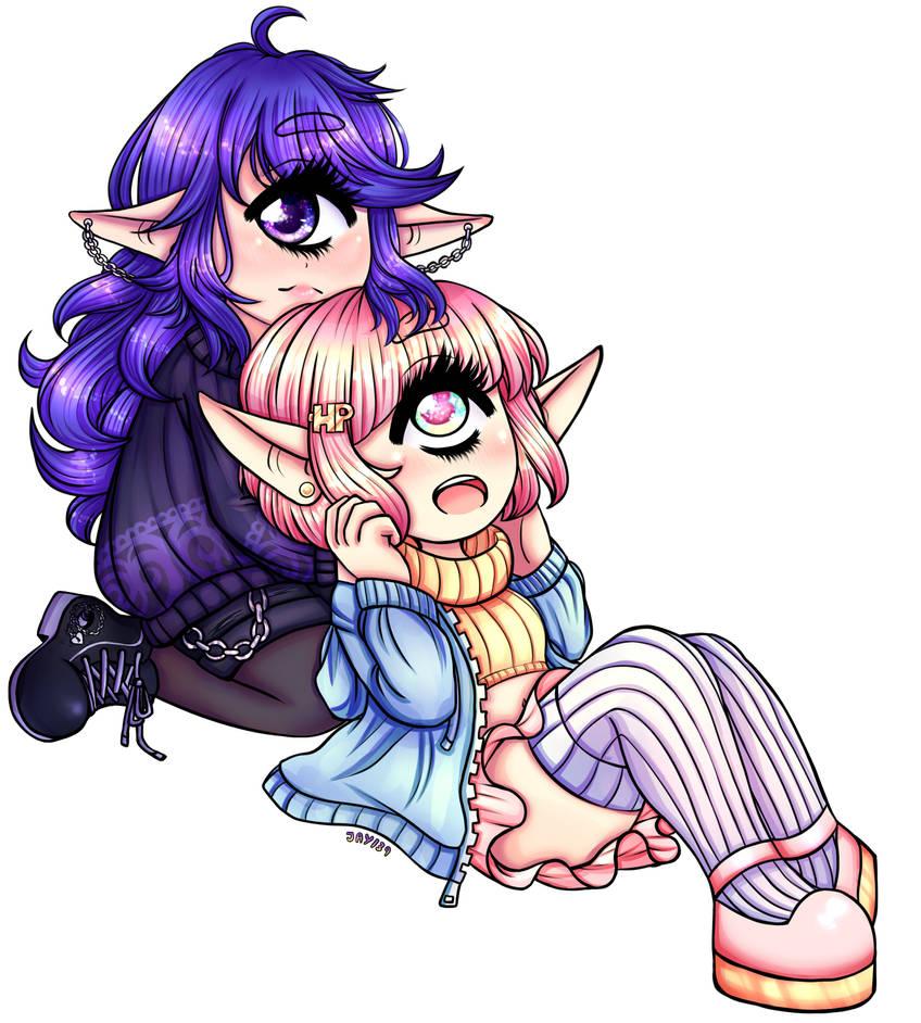 Cyclop Girlfriends by Jade-Hearts-Art