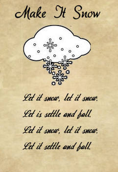 Charmed Make It Snow Spell
