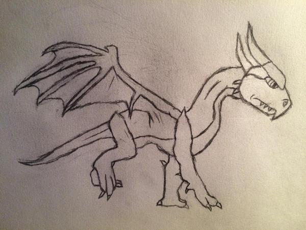 Dragon Sketch by Shadowstep09