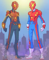 Spider-Man Redesign (Heisei and Showa Tokusatsu) by MrRizeAG