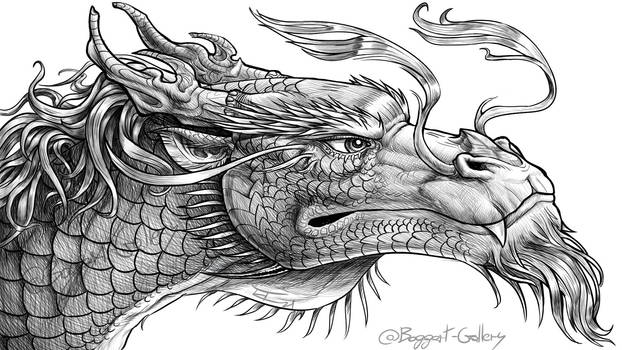 Oriental Dragon from The Priory of the Orange Tree