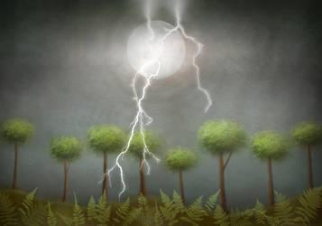 Moon Lightning by ninokhan