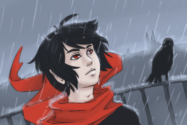 Crow: rain by DamaiMikaz