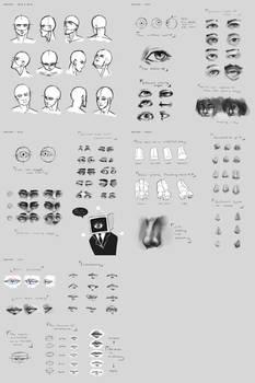 Sketchdump June 2015 [face anatomy]