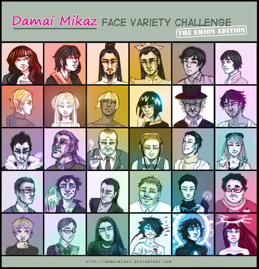 Face Variety Challenge [Emion characters] by DamaiMikaz
