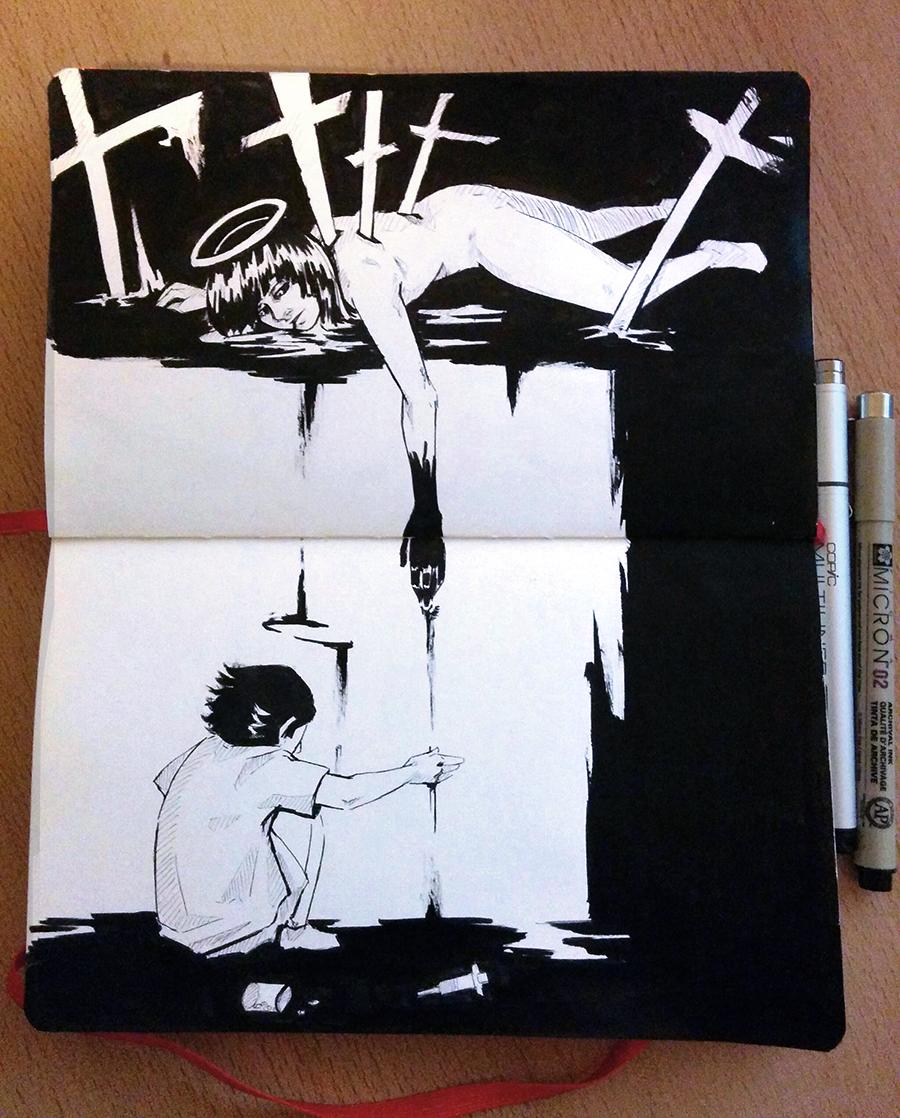 [Inktober] Death and rebirth by DamaiMikaz