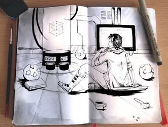 [Inktober] A mad scientist