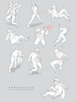 Sketchdump December 2015 [Dynamic poses]