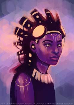 Exotic sci-fi girl