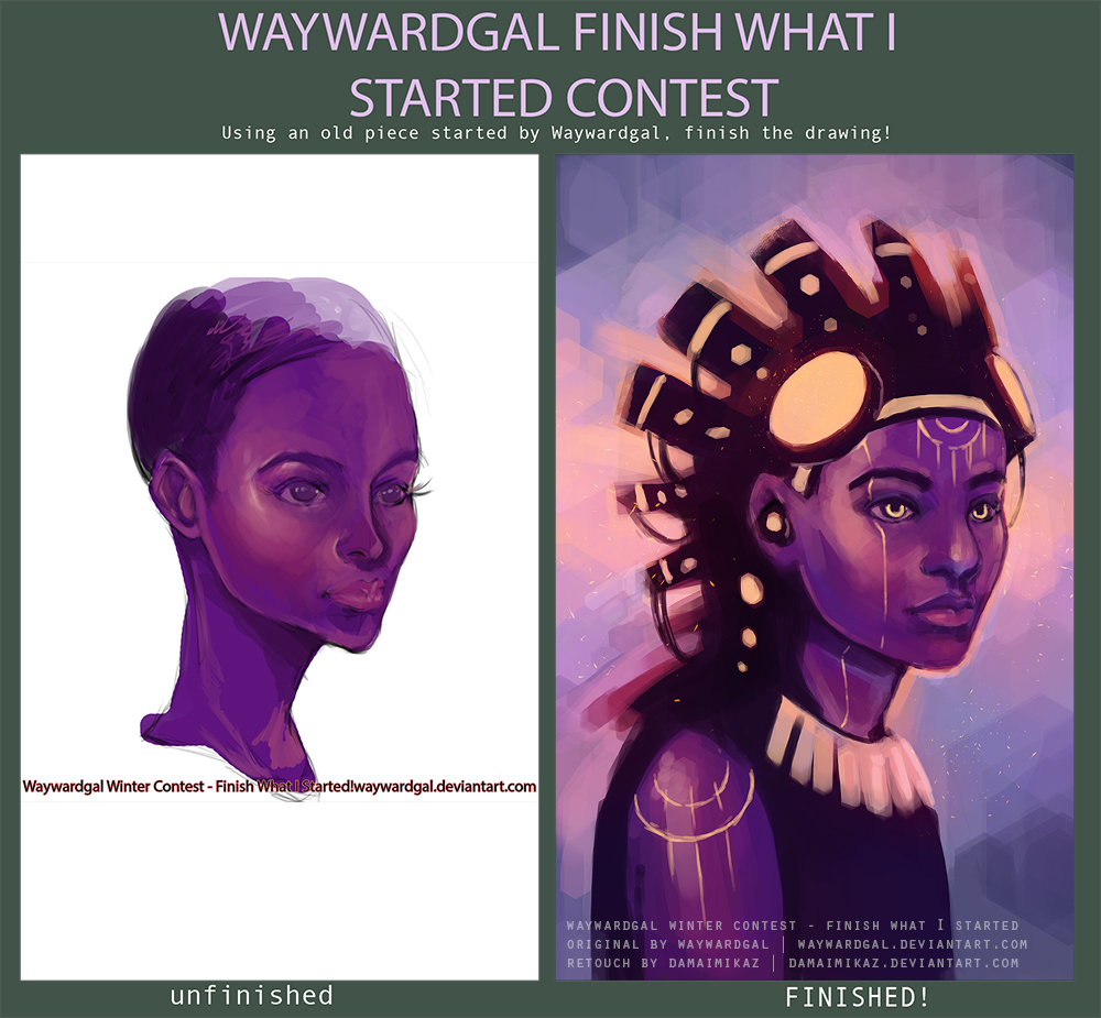 Waywardgal winter contest by DamaiMikaz