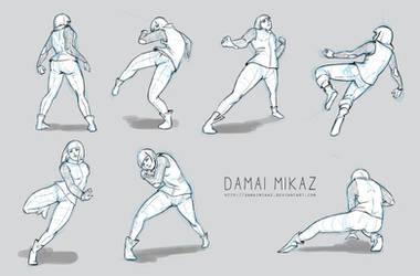 Sketchdump January 2016 [Dynamic poses]