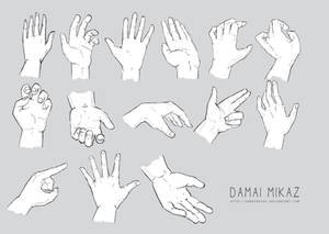Sketchdump January 2016 [Hands]