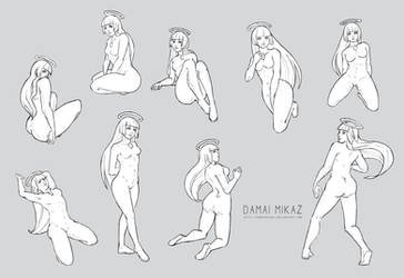 Sketchdump February 2016 [Female poses]