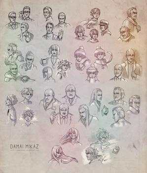 Sketchdump February 2016 [Faces]