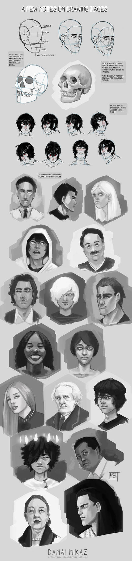 Sketchdump June 2016 [Faces] by DamaiMikaz