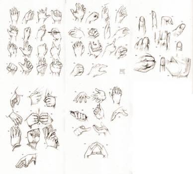 Sketchdump July 2016 [Hands]