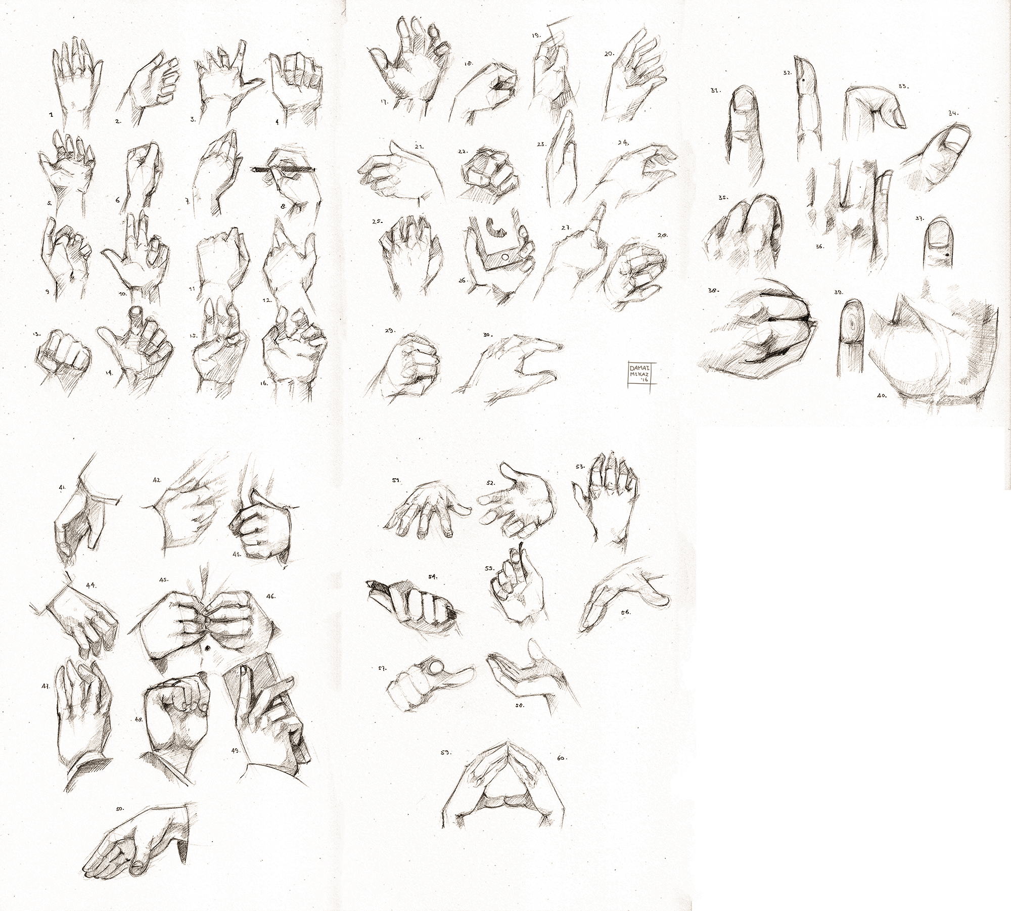 Sketchdump July 2016 [Hands]