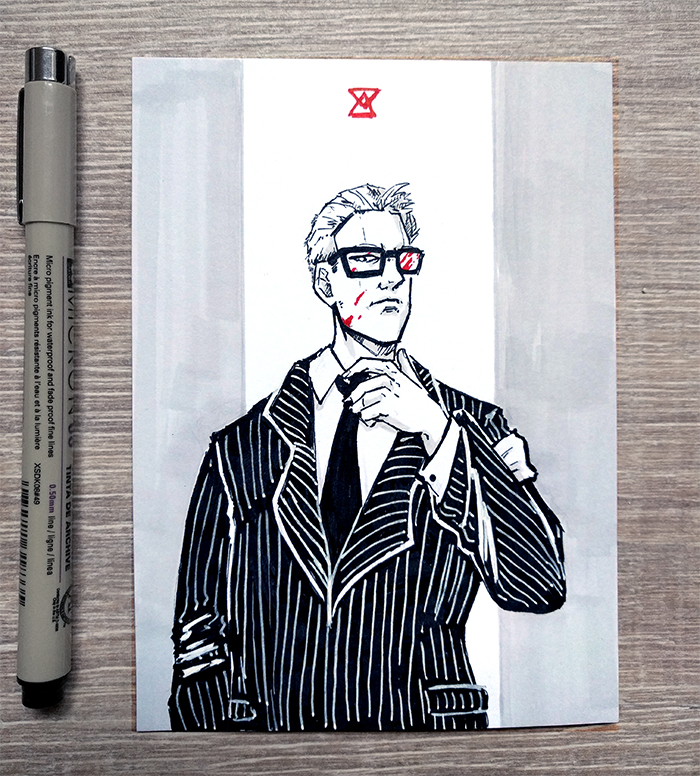 [Inktober] 01 Business by DamaiMikaz