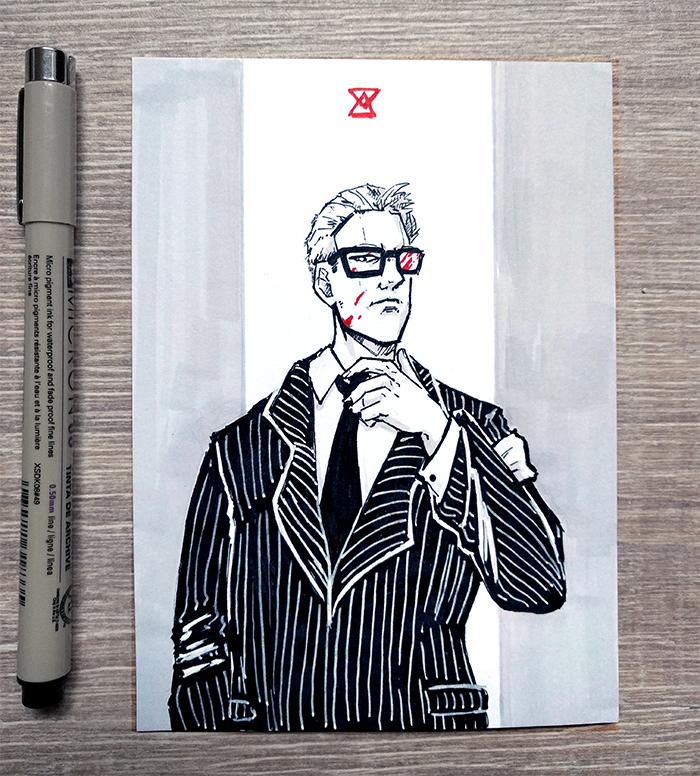 [Inktober] 01 Business by DamaiMikaz