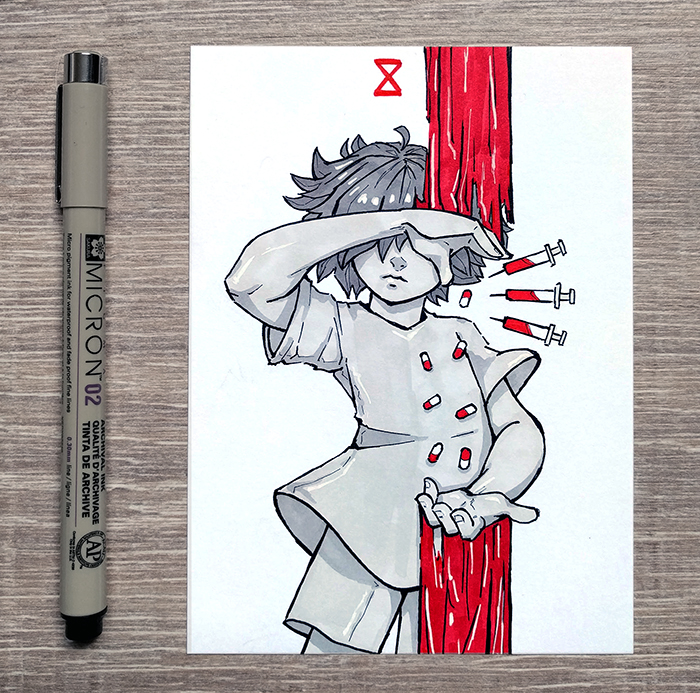 [Inktober] 15 Meds by DamaiMikaz