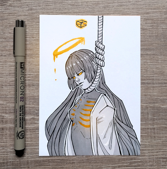 [Inktober] 16 Death by DamaiMikaz